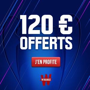 Winamax offre 120€ jusqu'au 5 Mai !