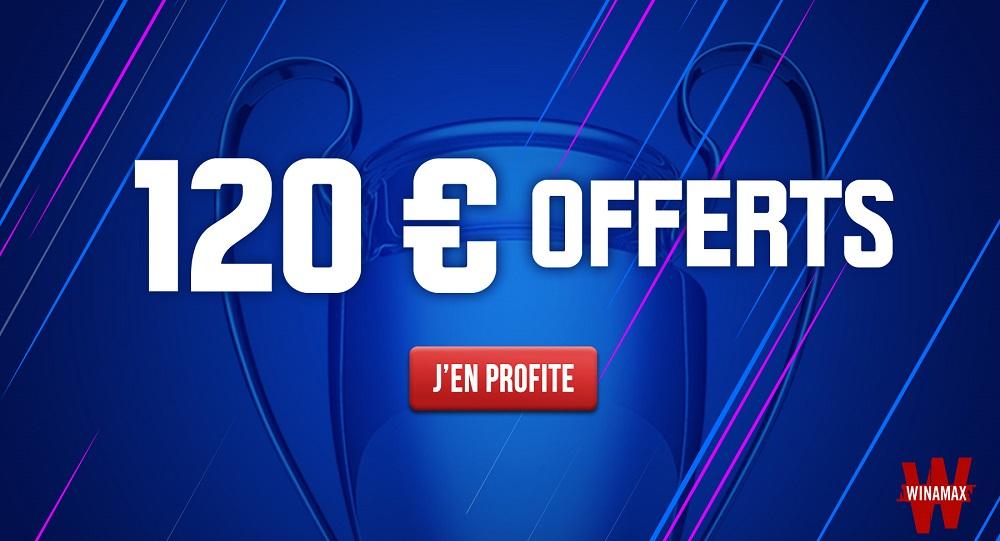 Promo Winamax - Bonus 120€ - Avril Mai 2021